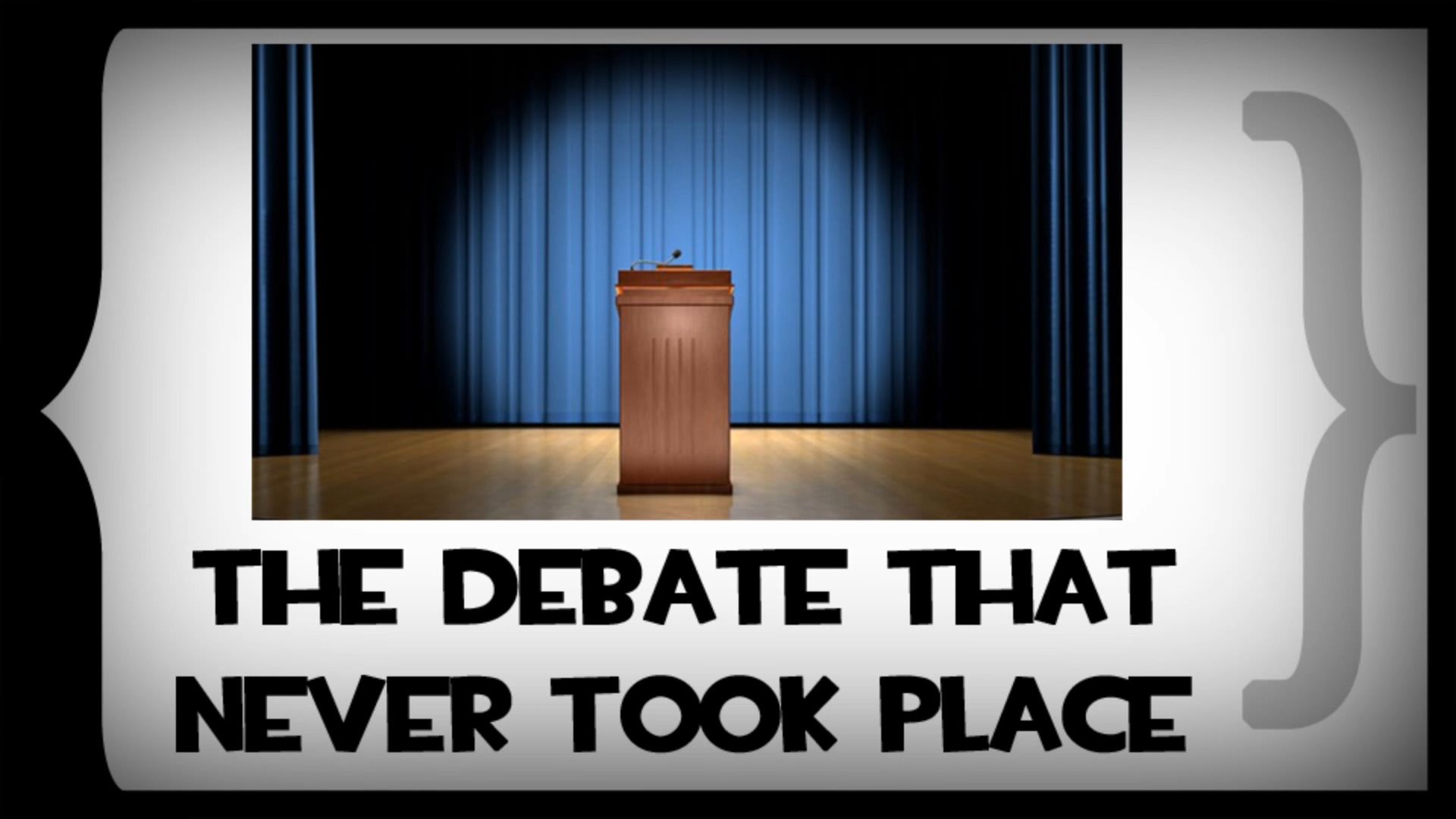 The title card from Errant Signal's The Debate That Never Took Place